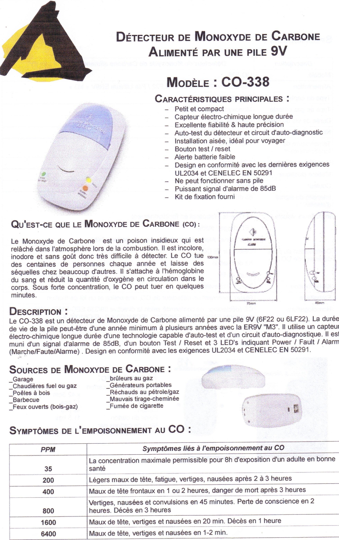 d tecteur de monoxyde de carbone co 338 les rendez vous de la pr vention d tecteur de fum e. Black Bedroom Furniture Sets. Home Design Ideas